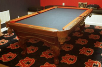 Custom Billiards Cloth and Two-Tone Felting and Rails