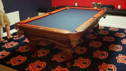 Custom Billiards Cloth And TwoTone Felting And Rails Professional - How to put felt on a pool table